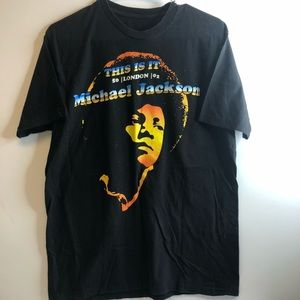 Michael Jackson This Is It London Tshirt Sz Large
